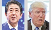 Abe, Trump agree to further steps on N Korea 'threat'