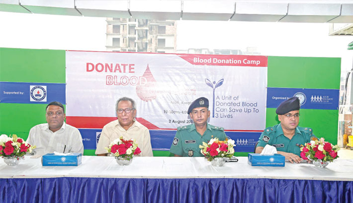 Blood donation programme held at AIUB