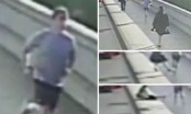 Shocking moment jogger pushes woman in front of running bus (Video)