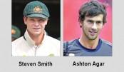 Smith praises 'batsman' Agar