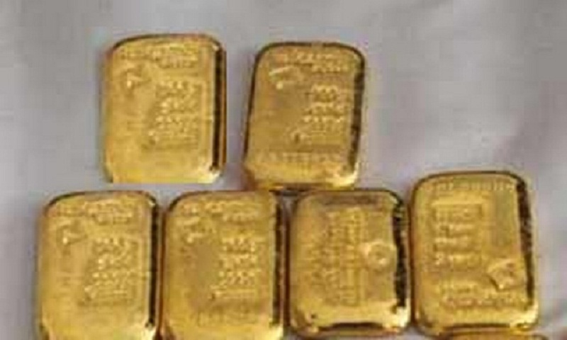 6 gold bars seized at Shahjalal airport