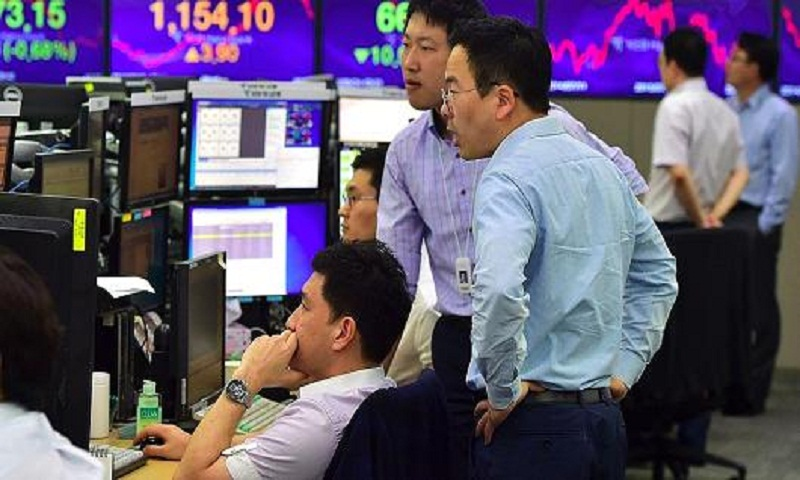 Asian stocks slump on profit-taking after US-NKorea tensions