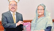 Indian envoy  hands over book on Modi govt to Hasina