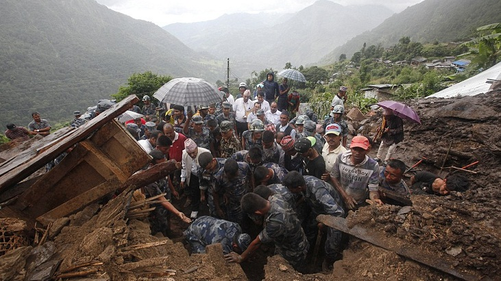 At least 25 dead in Nepal landslides, floods