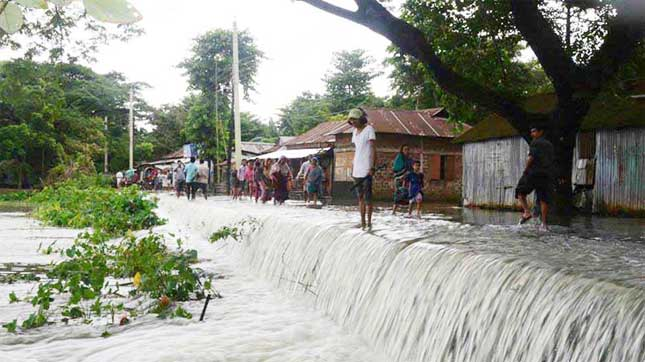 30 villages flooded in Netrakona