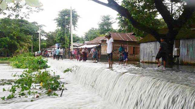30 villages flooded in Netrakona