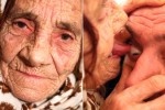 80-year-old woman licks people's eyeballs in order to clean them (Video)