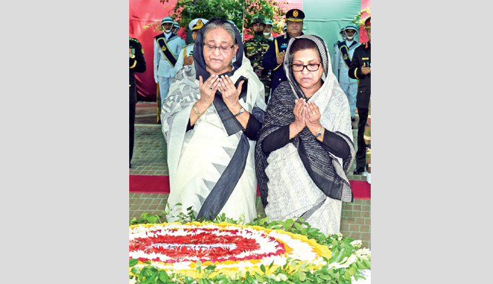 Nation pays homage  to Bangabandhu
