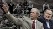Both Bush presidents denounce 'hatred in all forms'