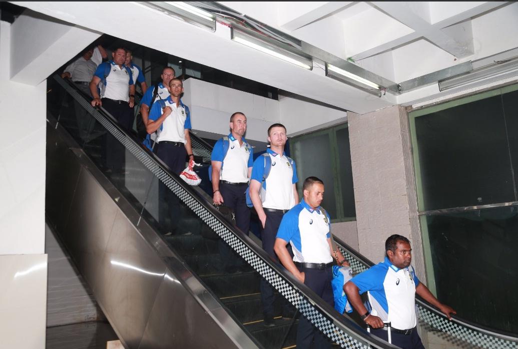Australian cricket team arrives Dhaka