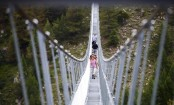 Switzerland opens the world's longest pedestrian suspension bridge