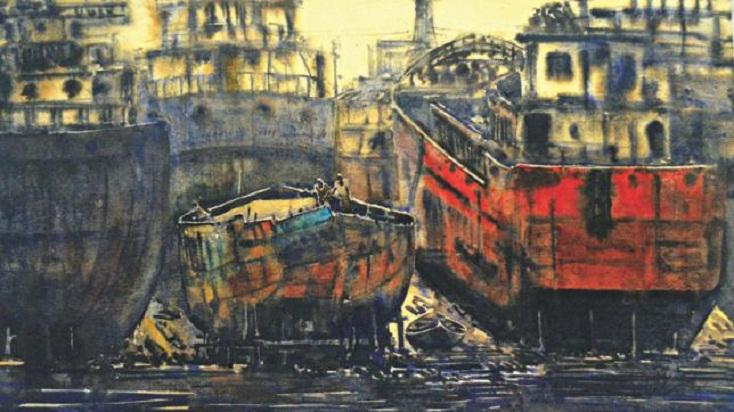 Fida Hossain, Sultan Ishtiaque's painting exhibition begins in city