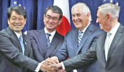 Japan, US vow to boost alliance to deter North Korea
