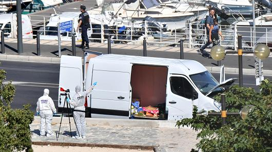 1 dead as vehicle rams bus stops in Marseille, France