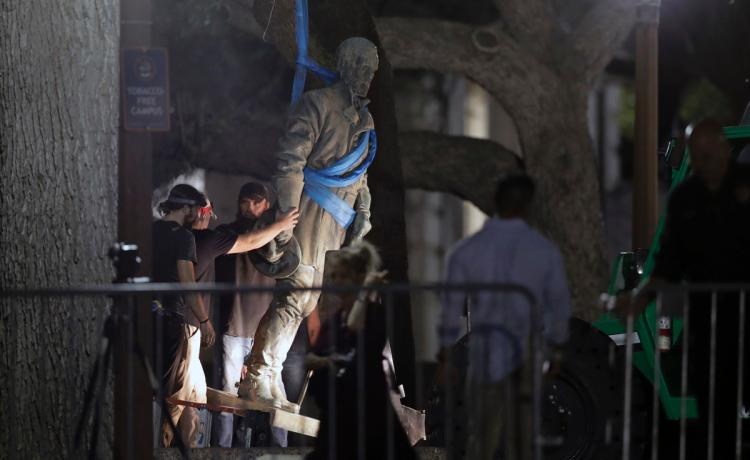 US university removes Confederate statues from campus