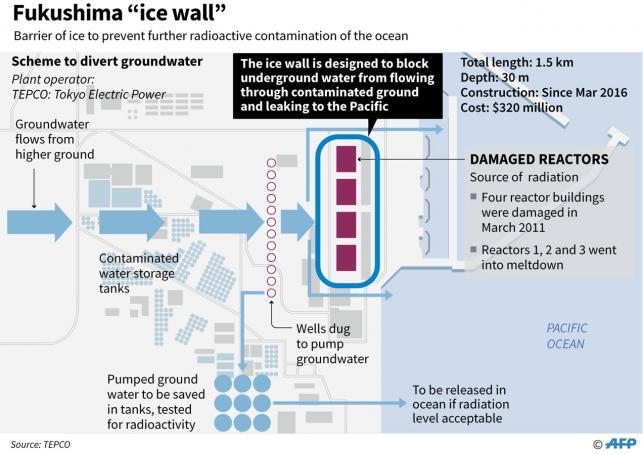 Fukushima reactor 'ice wall' nearly finished