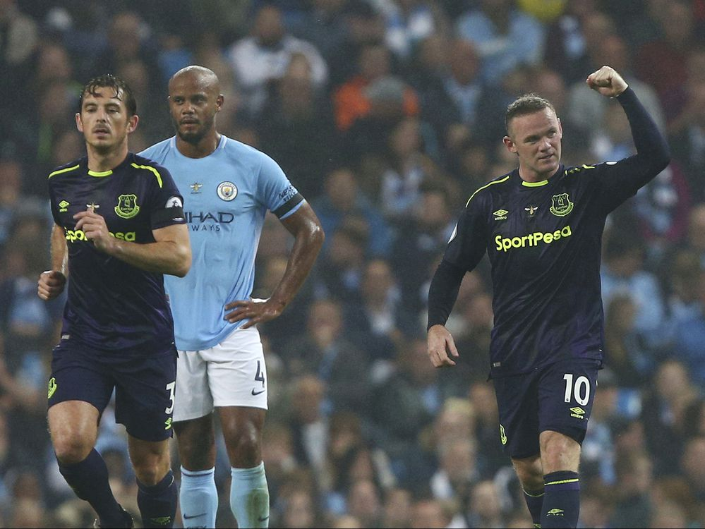 Rooney nets 200th EPL goal, Everton draws 1-1 at ManCity