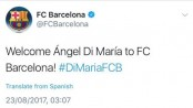 Hacked Barcelona Twitter account 'announces Angel Di Maria signing'