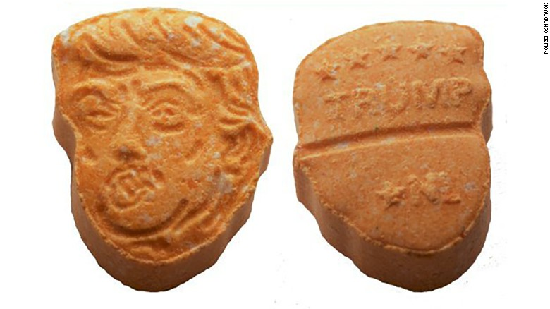 German police seize thousands of Trump shaped ecstasy pills