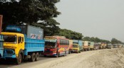 Slow traffic on Dhaka-Mymensingh-Tangail highways