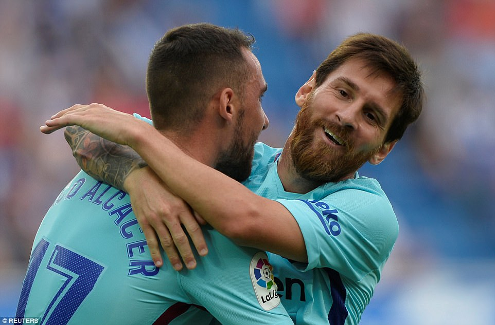 Messi scores his 350th Spanish league goal as Barcelona wins