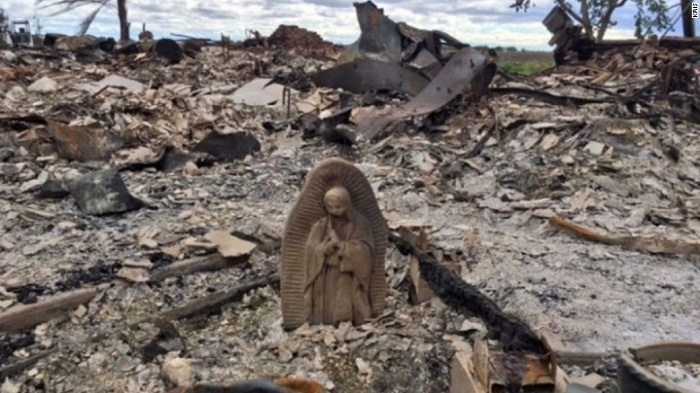 Fire destroyed home during Harvey but virgin Mary statue survived