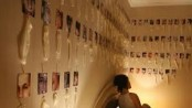 Woman collects 2000 used condoms, displays them on her bedroom wall