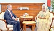 Robert D Watkins calls on Prime Minister Sheikh Hasina
