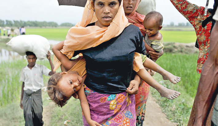 Rohingya influx intensifies