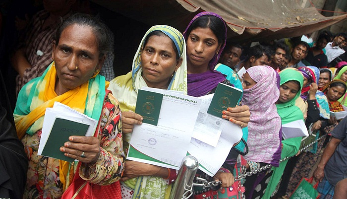 Female workers' migration rises 430pc in 8 years