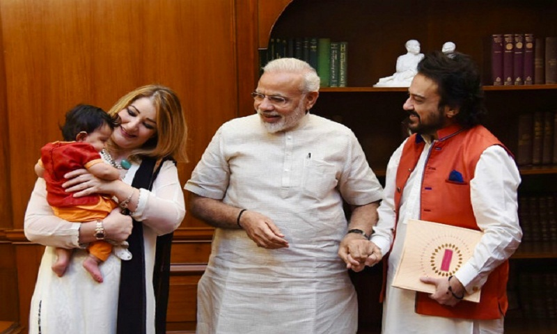 Adnan Sami and daughter Medina dropped by to visit PM Narendra Modi