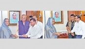 PM receives cheques for relief fund