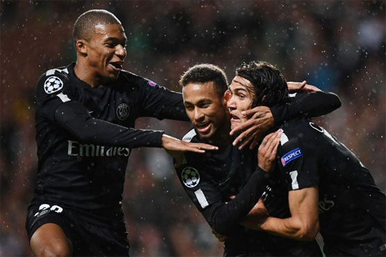 Kylian Mbappe, Edinson Cavani and Neymar score as five-star PSG beat Celtic