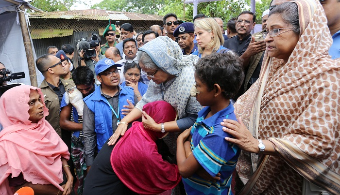 Rohingyas happy with PM's visit