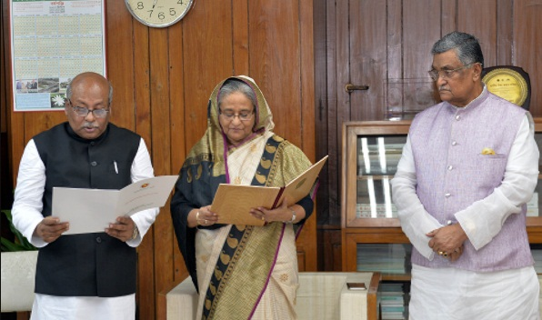 Laxmipur District Council chairman takes oath