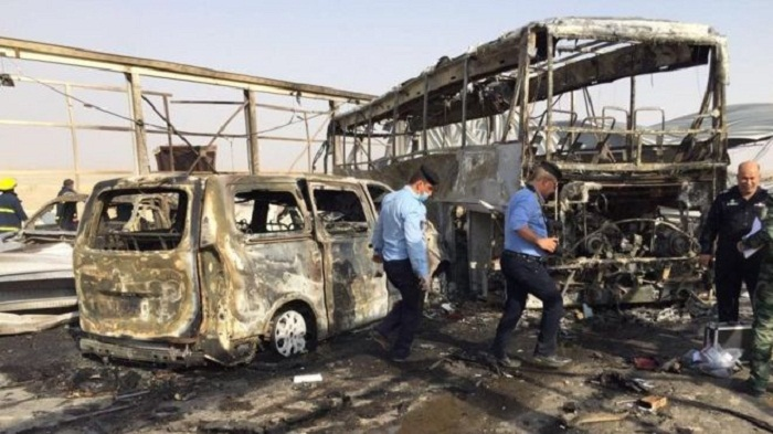 At least 50 killed in twin attacks in south Iraq