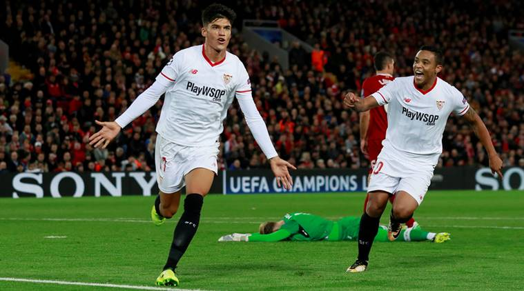 Sevilla fights back to draw 2-2 at Liverpool