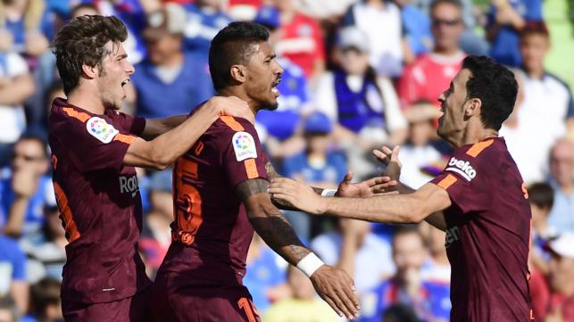 Paulinho rescues Barca at Getafe