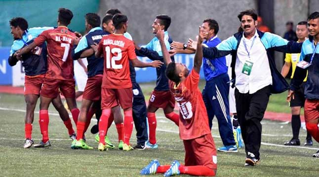 Bangladesh clinch incredible victory against India in SAFF U-18 soccer