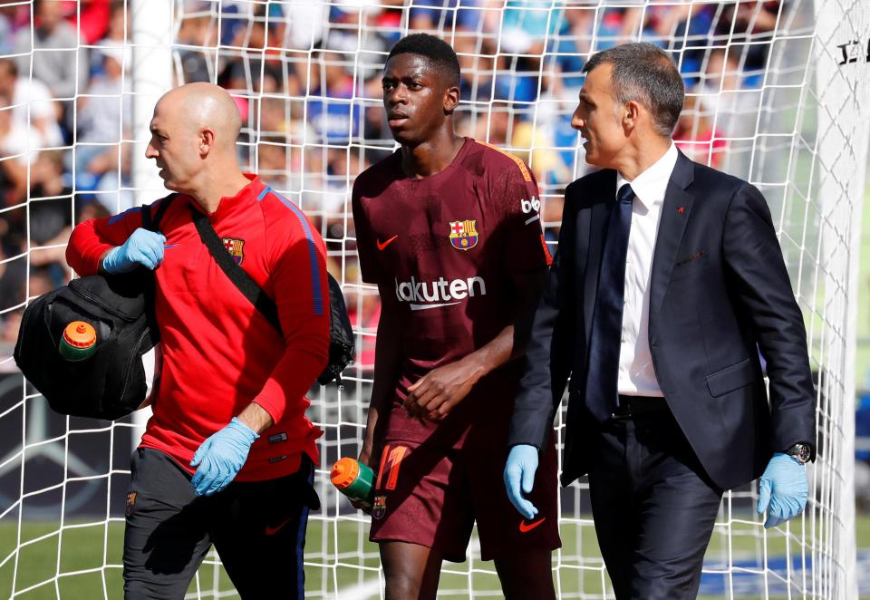 Barcelona forward Ousmane Dembele out for up to four months