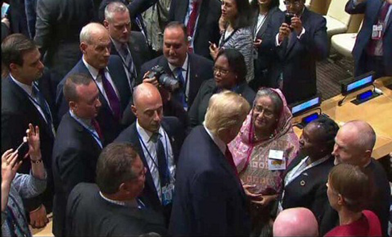 US with Bangladesh on Rohingya issue, Trump tells Hasina (Video)
