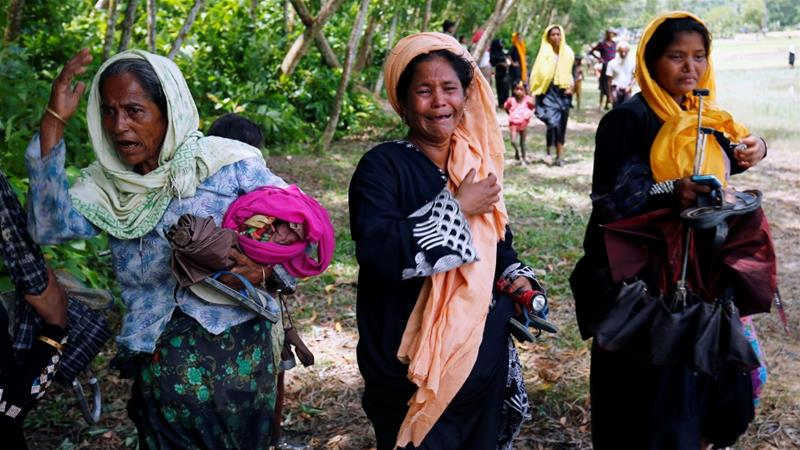 Fled Rohingya Muslims reject Suu Kyi's claims
