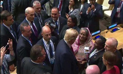 US with Bangladesh on Rohingya issue, Trump tells Hasina (Video