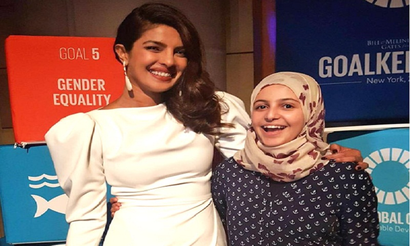 Priyanka Chopra meets UNICEF's youngest goodwill ambassador at UN's Global Goals Awards