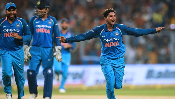 Kuldeep hat-trick gives India big win in 2nd ODI