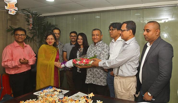 Aga Khan team visits daily sun office