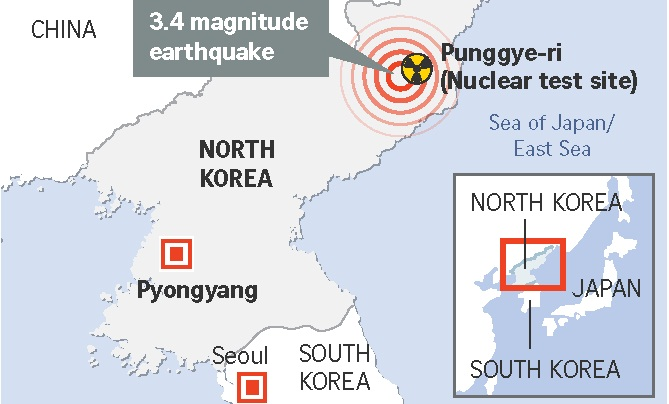 North Korea quake likely seismic aftershock: nuclear test ban watchdog
