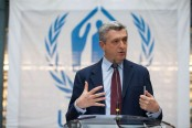 UN refugee agency chief visits Rohingya camps