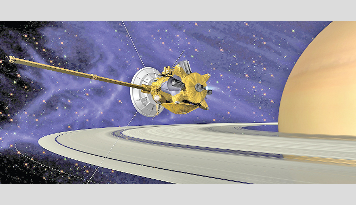 NASA receives signal from Saturn mission