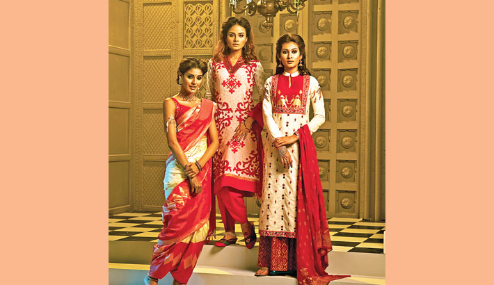 Fashionable Puja Collections Available At Aarong